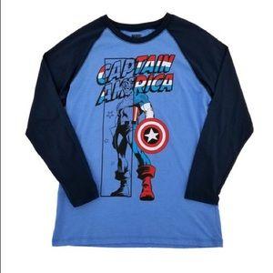 MARVEL Comics Captain America Raglan Graphic Tee